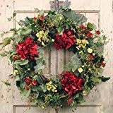 spring wreaths for front door amazon com summer garden spring door wreath 22 in home u0026 kitchen