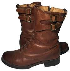 womens boots frye frye brown 77790 combat leather boots