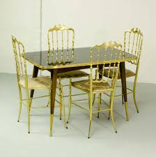 italian dining room furniture italian dining set of 4 brass chiavari chairs u0026 dining table