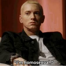 Gay Gay Gay Meme - eminem comes out as gay in new clip from the interview