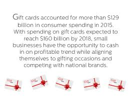 small business gift cards 4 reasons why small businesses should a gift card program