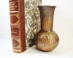 Copper Flower Vase Vintage Copper Vase Etsy
