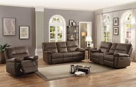 sofa match homelegance nell reclining sofa set leather gel match brown