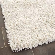 Off White Area Rugs by Classic White Plush Shag Area Rug Safavieh Com