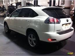 lexus rx 400h price new 2008 lexus rx 400h awd hybrid in crystal white photo 4 064666
