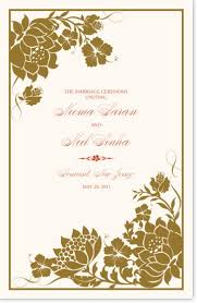 wedding wishes hindu wedding program templates and wording for indian wedding programs