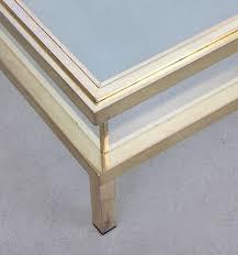 maison jansen sliding top coffee table complete in brass lomomomo