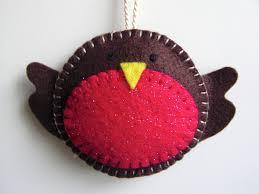 how to make a felt robin christmas decoration