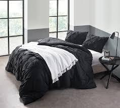 Black And White King Bedding Xl King Size Comforter Black Pin Tuck