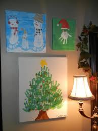10 fun and easy kids christmas crafts hand print art diy canvas