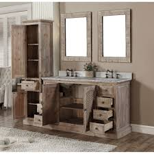 Double Vanity With Tower Bathroom Vanity Set With Linen Tower Best Bathroom Decoration