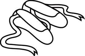 long ribbon ballerina shoes coloring pages bulk color
