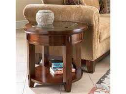 broyhill end table with usb broyhill furniture vantana 4986 000 round end table hudson s