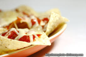 phrase cuisine nachos photo picture definition at photo dictionary nachos word