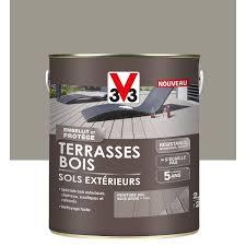 nettoyage terrasse bois composite peinture sol extérieur terrasse bois v33 grisé 2 5l leroy merlin