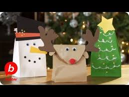 christmas paper bags make 3 christmas gift bags tree reindeer snowman crafts