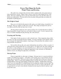 water erosion worksheet free worksheets library download and