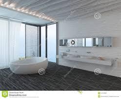 interieur salle de bain moderne intérieur de salle de bains moderne avec la fenêtre photo libre de