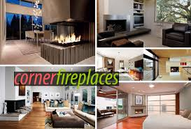 Modern Living Room With Fireplace Images Sleek Corner Fireplaces With Modern Flair