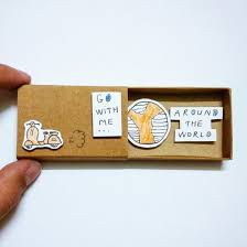 go with me around the world card matchbox gift diy cards and