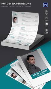 Php Developer Resume Php Developer Resume Cover Letter Portfolio Template Free
