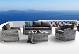 poltrone salotto set salotto da giardino in polyrattan con divano poltrone e