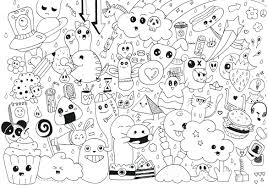 kawaii crush coloring pages cat colouring anime page adults doodle
