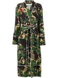 off white camouflage print robe green women clothing oversized
