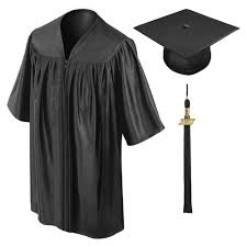 graduation toga black kindergarten cap gown tassel gradshop