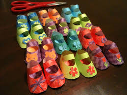 hand crafted custom party favors decorations paper baby shoes for