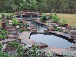 backyard attractive backyard waterfalls with backyard pools with