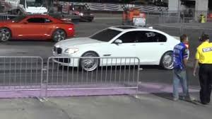 bmw 740 vs lexus ls 460 2011 camaro ss vs 2010 bmw 750li 1 4 mile youtube