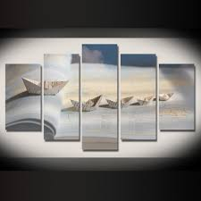limited edition boat ships 5pcs painting home decor canvas