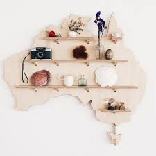 australia shaped wooden treasure board one two tree