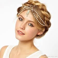 2017 bohemian wedding bridal hair accessories chains for