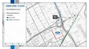 Perrysburg Ohio Map by Detroit Lions Game Day Traffic