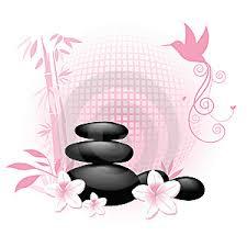 imagenes flores relajantes ilustración 12781991 relajante spa de rocas con bambú y el colibrí