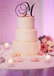 b cake topper 6 acrylic monogram initial wedding cake topper any letter