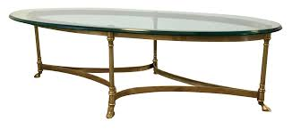 labarge hollywood regency brass oval coffee table chairish