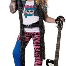 Metal Halloween Costumes Rock Star Costume Kids Heavy Metal Halloween Fancy Dress