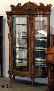 antique curio cabinet with curved glass unique curio china cabinet on antique curved glass 7