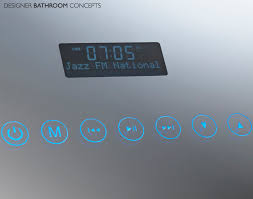 bathroom mirror radio mirror design ideas first multi media bathroom mirror with radio