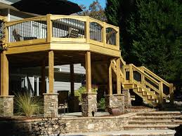 want to put stone around the bottom of our deck columns outdoor