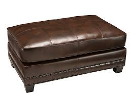 Romano Leather Cocktail Ottoman Antique Tobacco Raymour Flanigan