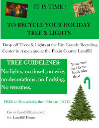 recycle your christmas tree pitkin county landfill