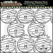 halloween mummy faces u2013 scrappin doodles