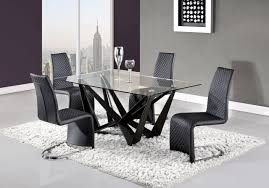 Global Furniture Dining Room Sets D2003dt Dining Table In Black By Global W Optional D6671 Chairs
