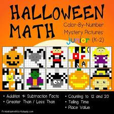 halloween math color number printables u0026 worksheets