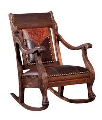 leather rocking chair modern chairs quality interior 2017