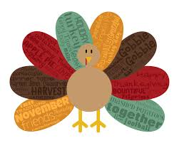 original artwork using words to describe thanksgiving turkey